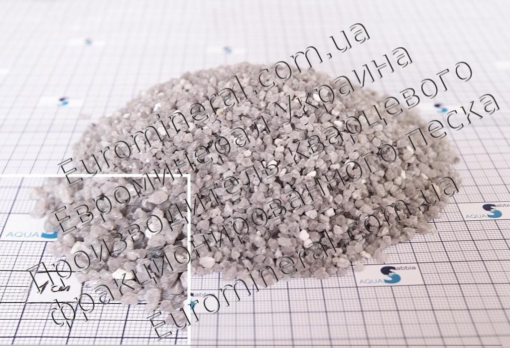Кварцевый песок фракционированный, фракция 2-3, доставка по Украине